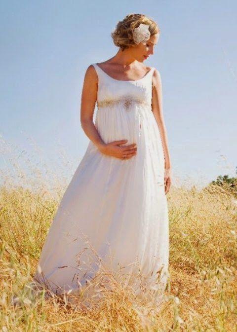 La Casa Blanca Designers: ¡Novias embarazadas! ¡Luce aún más hermosa!Atrás que...