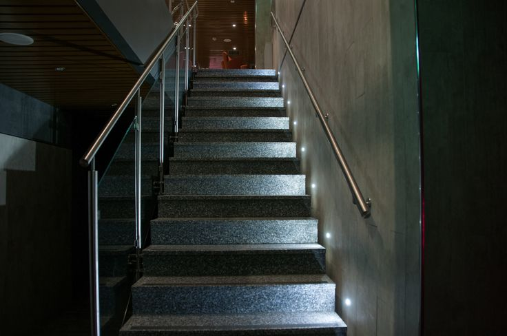 Lighting a stairway, whether indoor or outdoor, improves safety by helping people navigate potential trip hazards. Stair lighting can also be used to enhance architectural features and set the mood - like here in restaurant and nightclub Narran in Levi!