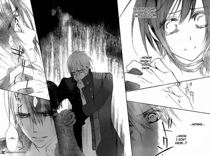 """Vampire Knight    Yuki x Zero    Yuki stole Zero's memories of her to ease his thirst for her blood, but he remembers her. Seeing her cry very nearly broke his heart. """"Your name is Yuuki, the woman I want to protect, and the woman who refused my protection."""""""