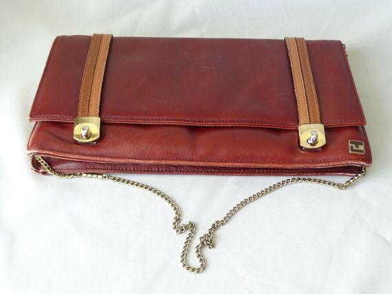 Vintage Ted Lapidus Bag Paris Design Shoulder by LesTempsPerdus