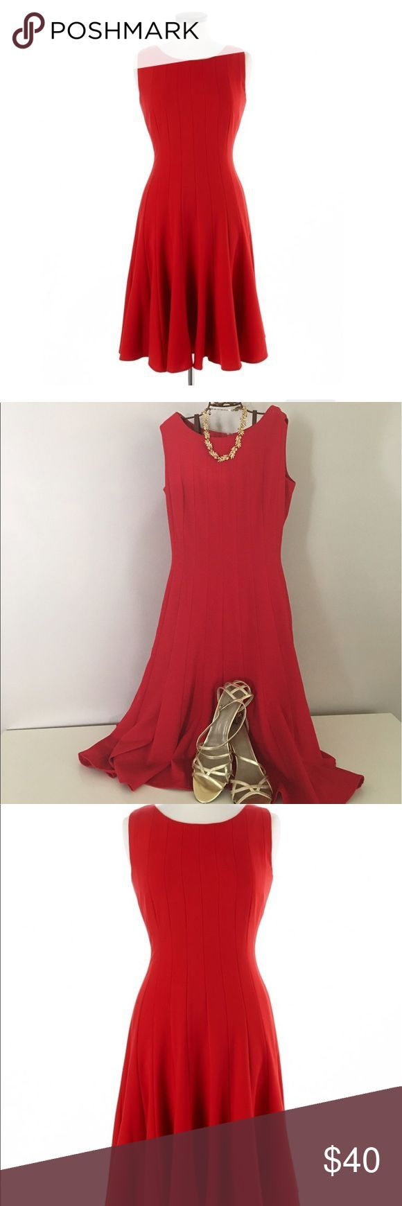 Nice Classic Dresses Ellen Tracy Sleeveless Red A-line dress 💋LADY IN RED 💋Ellen Tracy Sleevele... Check more at http://24store.tk/fashion/classic-dresses-ellen-tracy-sleeveless-red-a-line-dress-%f0%9f%92%8blady-in-red-%f0%9f%92%8bellen-tracy-sleevele/