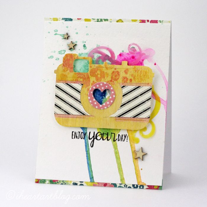 Card colored with #Gelato splatters.  By @Tiffany Johnson