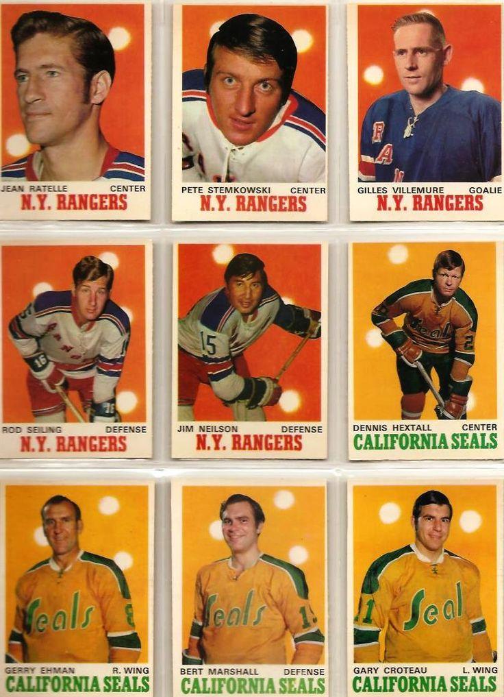 181-189 Jean Ratelle, Pete Stemkowski (2), Gilles Villemure, Rod Seiling, Jim…