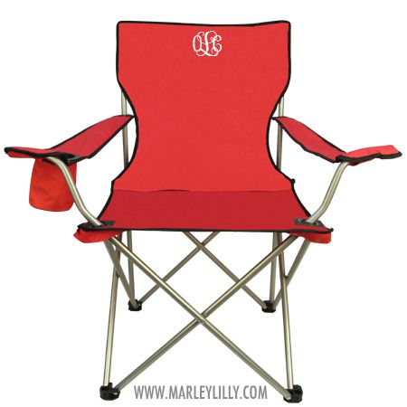 Monogrammed Tailgate Chair...I would love one of these for when I'm watching my boys play ball!!!