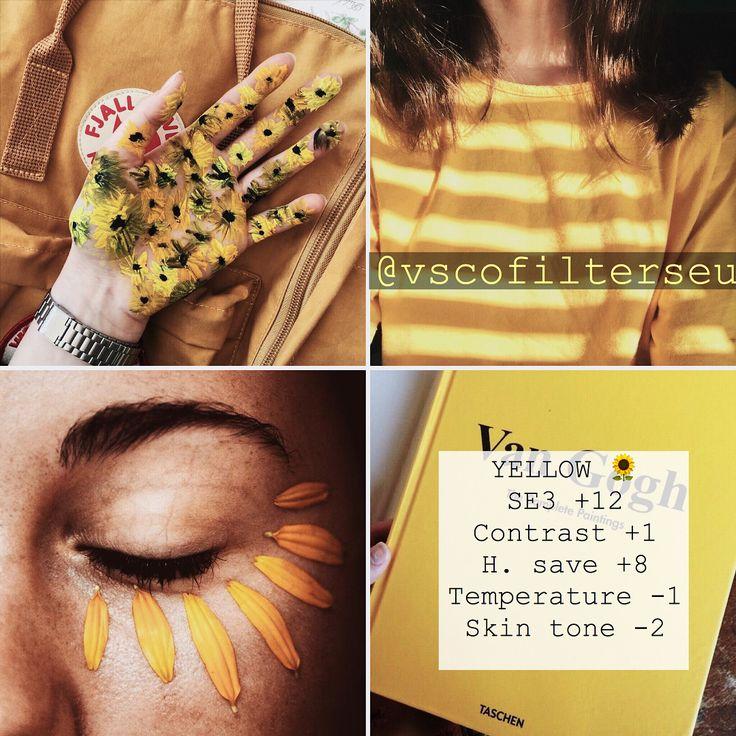 "1 Me gusta, 2 comentarios - VSCO FILTERS europe (@vscofilterseu) en Instagram: "" love yellow best used on: green, yellow, selfies/skin"""