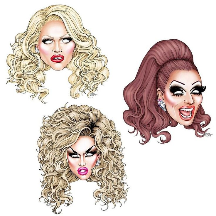 Rupaul's Drag Race Season 6 Top 3 FanArt: Adore Delano, Bianca Del Rio and Courtney Act