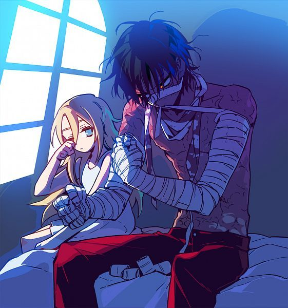 Angel of Slaughter 殺戮の天使 (Massacre Angel) (Satsuriku no Tenshi) 君が笑うまで #Anime #Manga #Game Fanart Ray (Rachel) and Zack (Isaac)