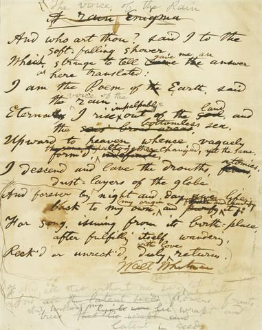 walt whitmans influence on poetry essay This biographical essay is excerpted from a longer essay included in the walt whitman hypertext accomplish in his poetry early influence.