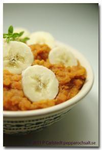 Linsgryta med curry och kokosmjölk - Grytrecept