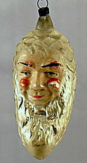 Early 1900s Pine Cone Man Christmas Ornament.