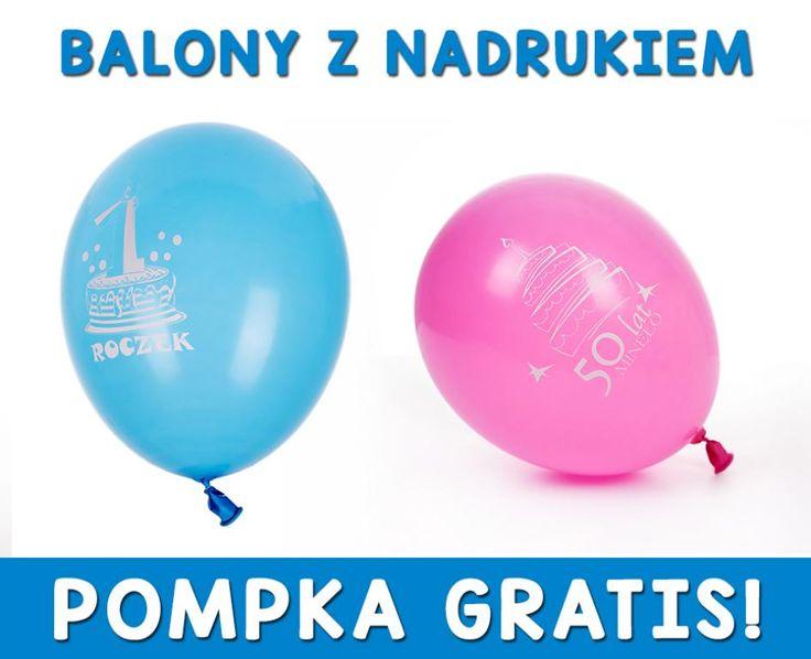 Balony Balon z NADRUKIEM REKLAMOWYM 300szt GRATIS