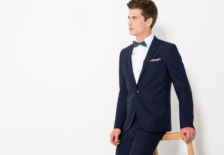 vest €80 en broek €40 Kostuumvest slim Middelblauw Mannen - Jules