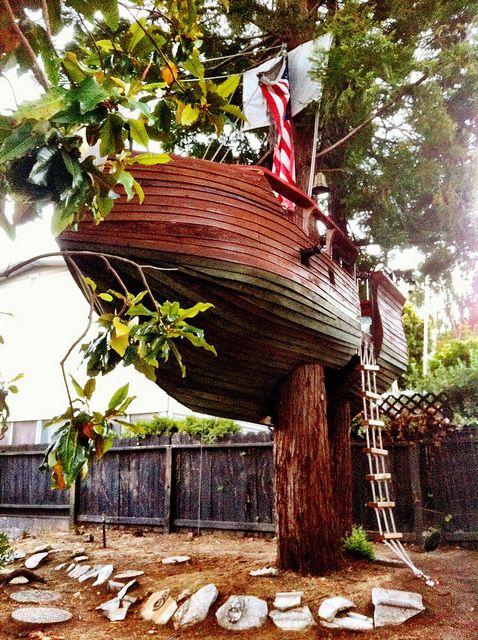 Pirate ship treehouse