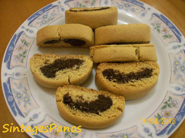 Ζαχαροπλαστική Πanos: Παξιμαδάκια καρύδας με σοκολάτα