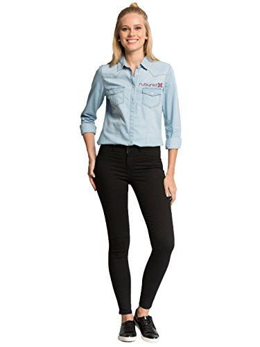 New Trending Denim: Rubyred Women's Ultra Stretchy High-Waist Skinny Jean Lightweight Super Comfortable Black and Indigo Blue Denim Jegging (L, Black). Special Offer: $19.90 amazon.com Functional Back Pockets & Mock Front Pockets & Zip Fly with Button Closure Keeps Its Shape Wear After Wear Perfect for Every OccasionLightweight Ultra-Stretchy High-Waist Skinny JeanSkinny Fit Through Hip And Thigh – Super Skinny At AnkleA...