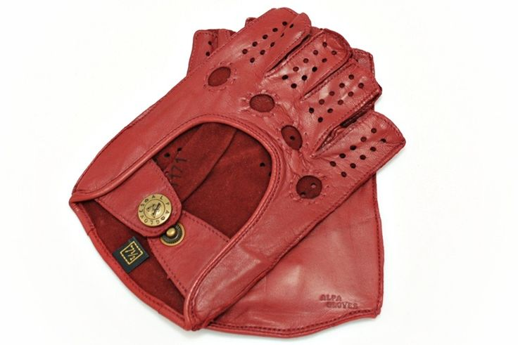 Women's Driving gloves from alpagloves.com Product code: 2-A1C-2-1 RED