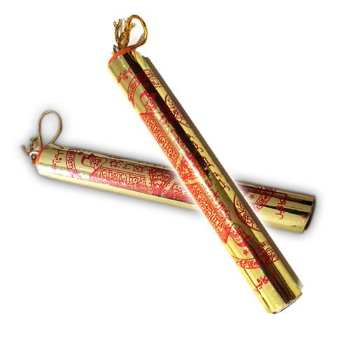 Large Magic Scroll with Sacred Spell Inserts in Saffron Oil to Protect Personal and Commercial Property | $63.99