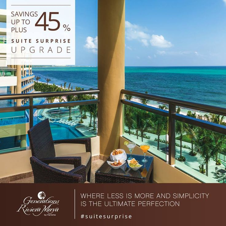 Suite Surprise Upgrade Hotel Special @GenerationsRsrt Reserve an Ocean Front Luxury Jacuzzi Suite room and receive a free guaranteed unlimited suite upgrade upon arrival. #SuiteSurprise #KarismaHotels