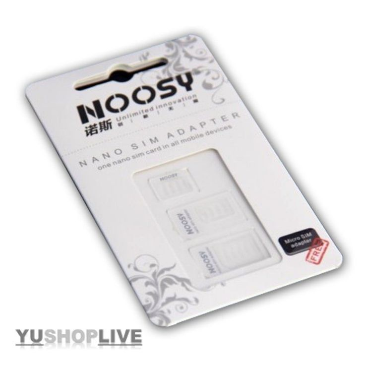 Noosy Nano-SIM Adapter Kit (3-er Pack)
