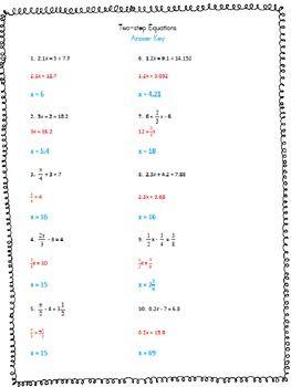 Solving Two Step Inequalities Worksheet Kuta - inequality ...