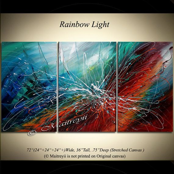 large wall art abstract painting oil acrylic by largeartwork
