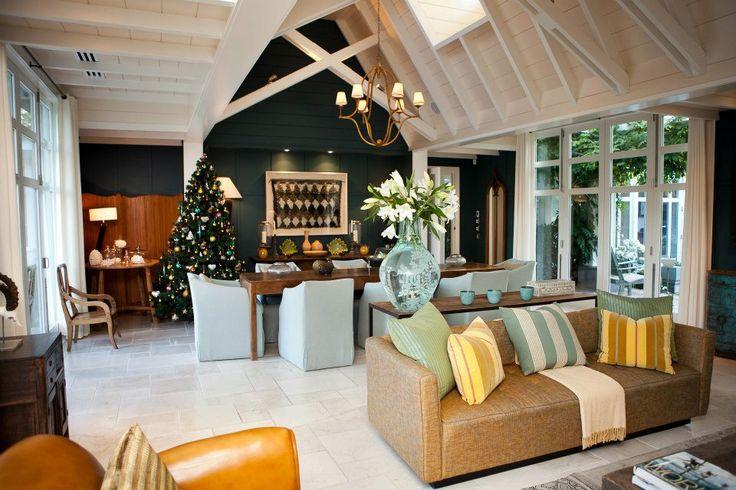 Beautiful Christmas interiors at Huka Lodge, New Zealand