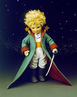 """R John Wright Dolls...The Little Prince is 18"""" molded felt, fully jointed. Date of Release: 1983-84 Edition Notes: Ltd. Ed. 250.; Premiere edition produced exclusively for The Toy Shoppe.  This edition is retired and would be available on the secondary market."""