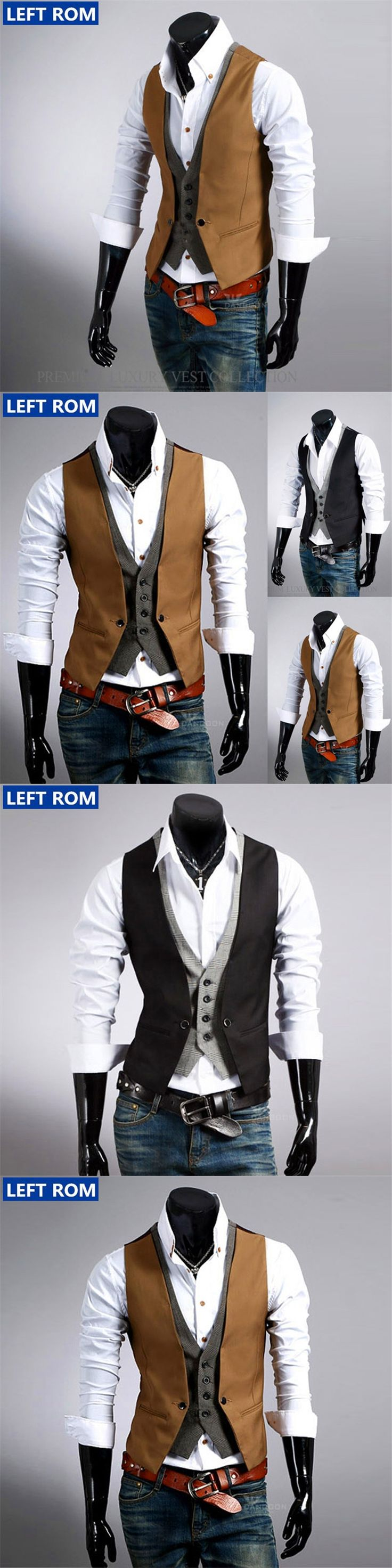 mens suits Vest 2017 new male Top boys popular selling fashion business casual wear men Waistcoat clothing Hot sale Size S-2XL