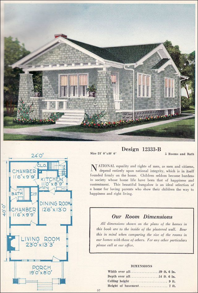C 1923 c l bowes 12333 b bungalows were offered in for Affordable bungalow house plans