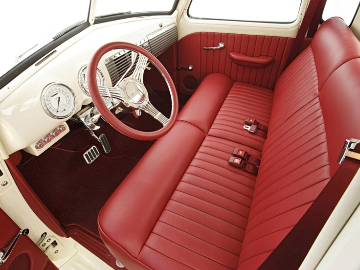 39 49 Chevy Pickup Love This Red Interior Adrenaline Capsules Pinterest Chevy Chevy Pickups