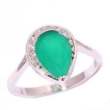 Unique Jewelry - Green Quartz Zircon Silver Women Jewelry Party Gemstone Ring Size 6.5 NJ10221