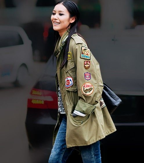 Patches are making a stylish comeback on everything from denim skinnies to military jackets.