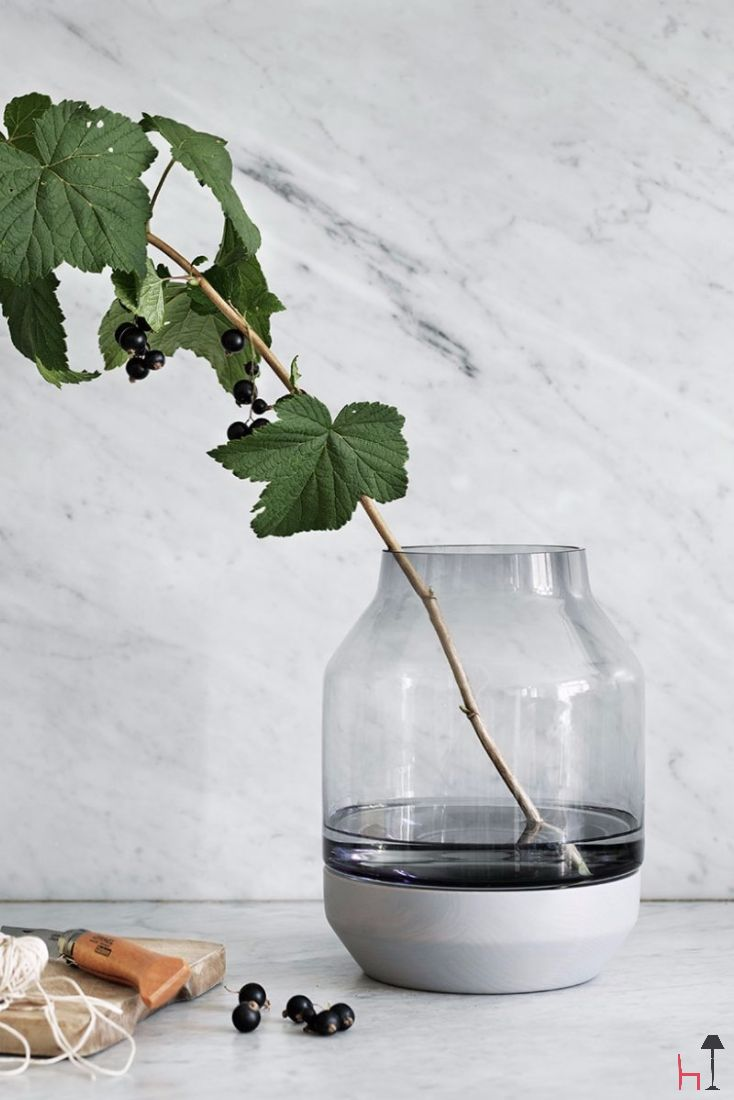 Elevated by Muuto is a hand made vase that uses an unexpected mix of materials to support the design aim and reflect its Nordic origins.