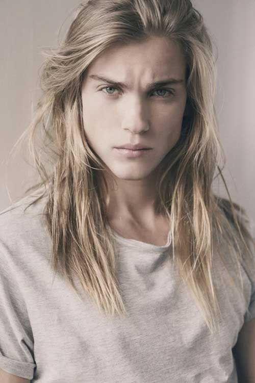 Men Blonde Long Hair