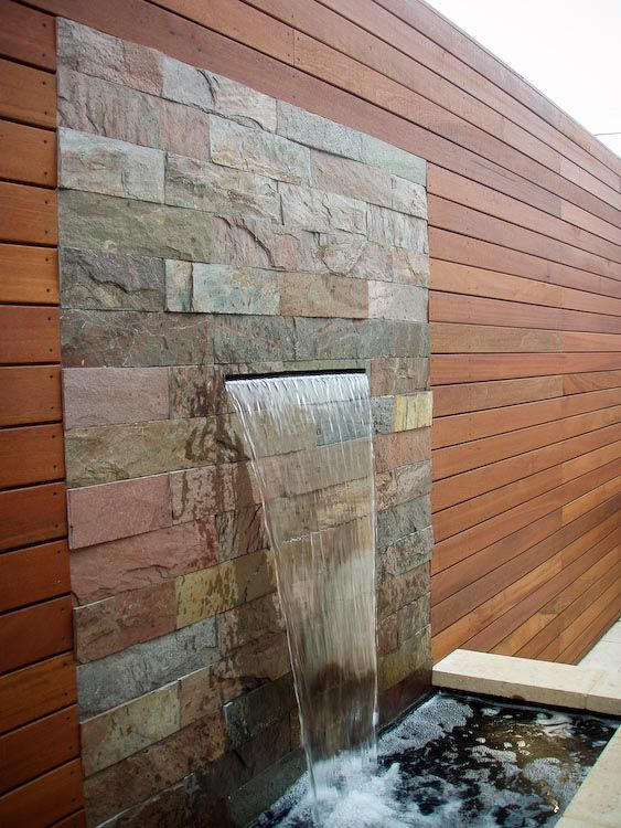 Best 25 wall water features ideas on pinterest for Water wall plans