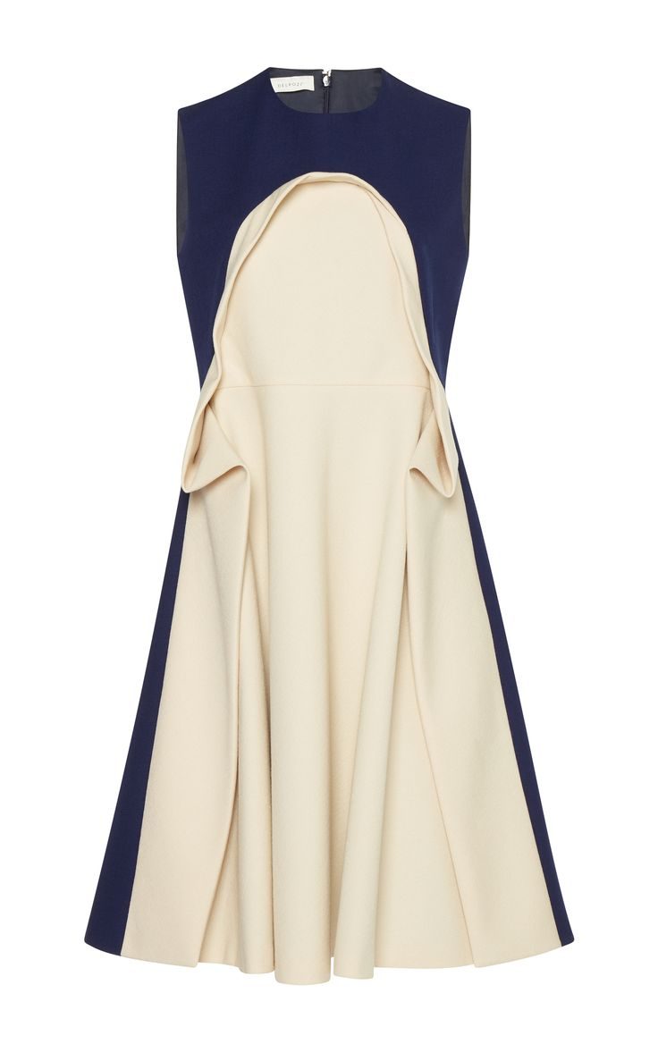 Sleeveless Flounce Dress by DELPOZO for Preorder on Moda Operandi