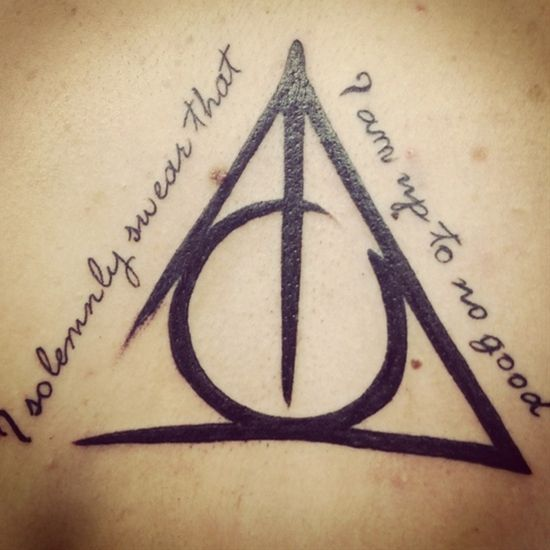 Up to no good. Harry Potter tattoo. EKKKKK!!!! My inner geek is grinning from ear to ear! I would totally rock this!!