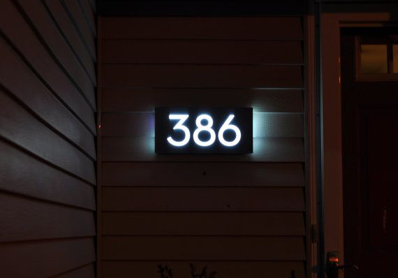 When trying to find an address from the street, the first thing to look for is the house number. This can be especially difficult at night. With