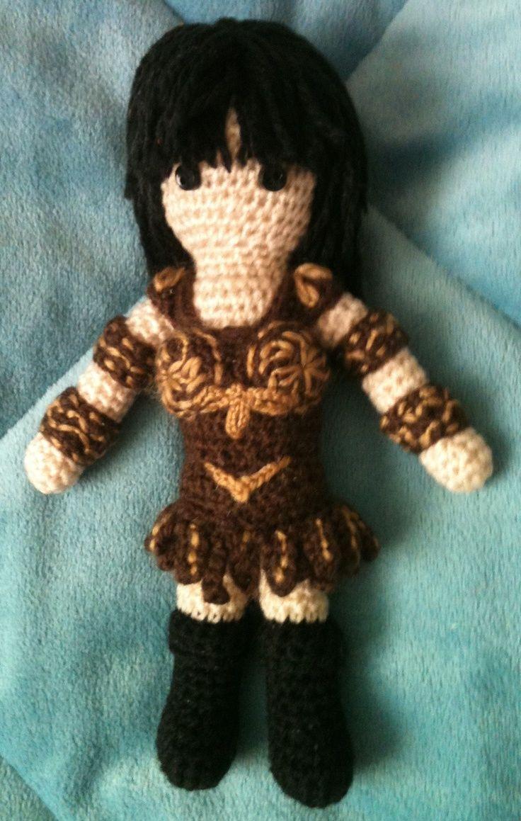 Amigurumi Xena : My amigurumi version of Xena, Warrior Princess. yarn ...