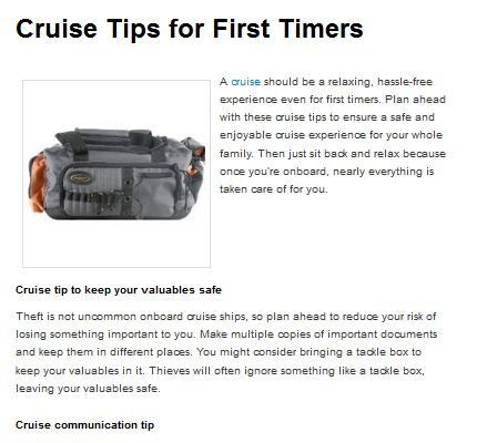 Cruise Tips for First Timers