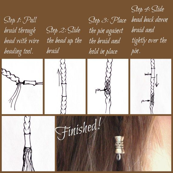 2 Bead Dwarvish Hair/Beard Bead kit LOTR Tolkien by Dwarvendom