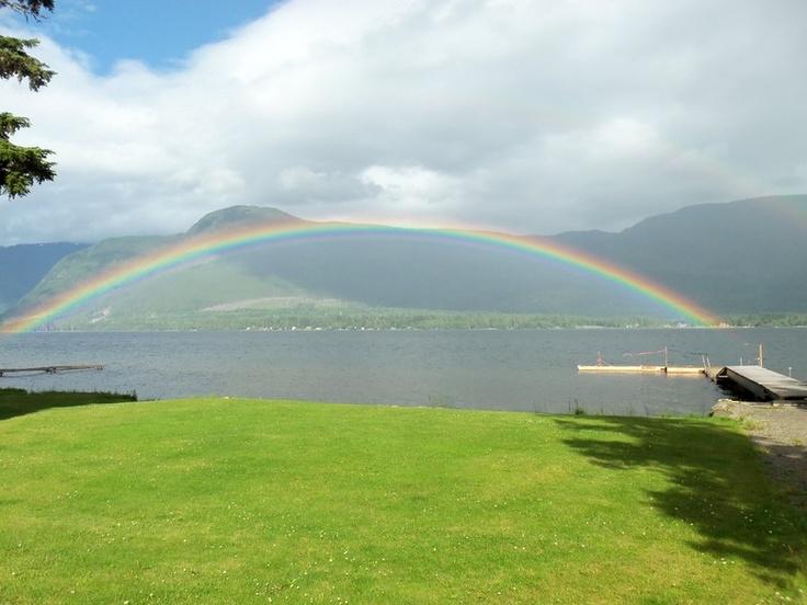 rainbow over Kitimat