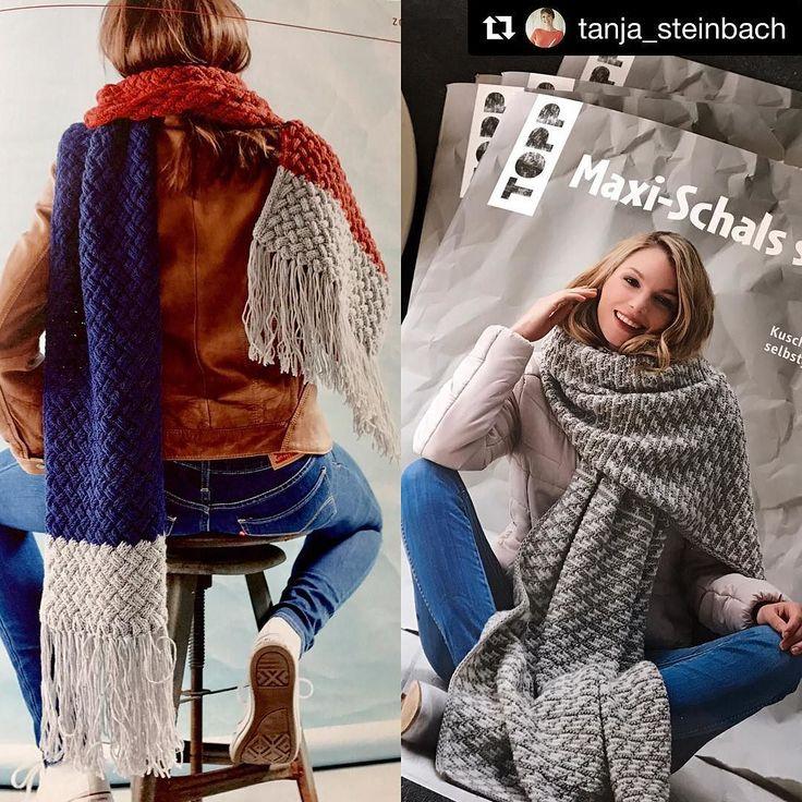 Ooooh wir sind so aufgeregt: Morgen treffen wir unsere #Autorin @tanja_steinbach beim 1. Hygge-Strick-Event in Deutschland von @schachenmayr und @frechverlag! Dort stellt sie ihre hübschen #Maxi-Schals vor!  Liebe Grüße st #hyggeiststricken #maxischalsstricken #maxischal #stricken #schachenmayr #knitting #knittersofinstagram #yarnlover #tanjasteinbach #frechverlag #topp #toppkreativ