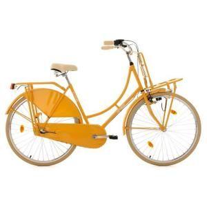 Un vélo pour dame qui respire le charme et la gaieté: Le TUSSAUD de KS Cycling est un vélo hollandais classique pour la circulation en ville. Ce vélo est pour cela équipé de tout ce qu'il vous faut pour parcourir la ville. Que ce soit pour aller cher