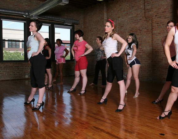 Bachelorette activity in Chicago: Burlesque Dancing class