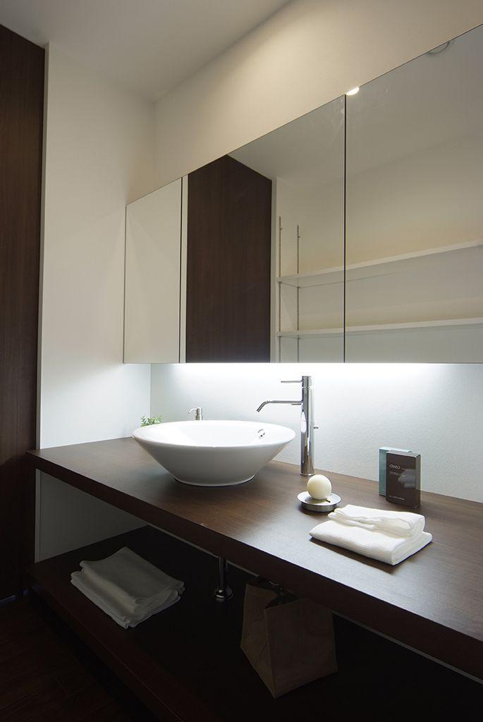 洗面室 施工例 マキハウス: 福岡の注文住宅・戸建分譲・リノベーション