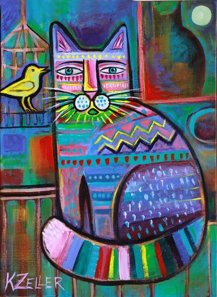 1000 id es propos de peintures de chat sur pinterest - Peindre sur de la peinture brillante ...