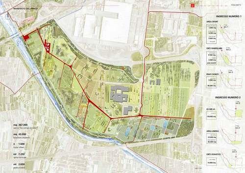 Gianfranco Franchi, Andreas Kipar, Giovanni Sala, Gianluca Bacci — Parco urbano localizzato nella zona dell'ex campo di volo. Pistoia