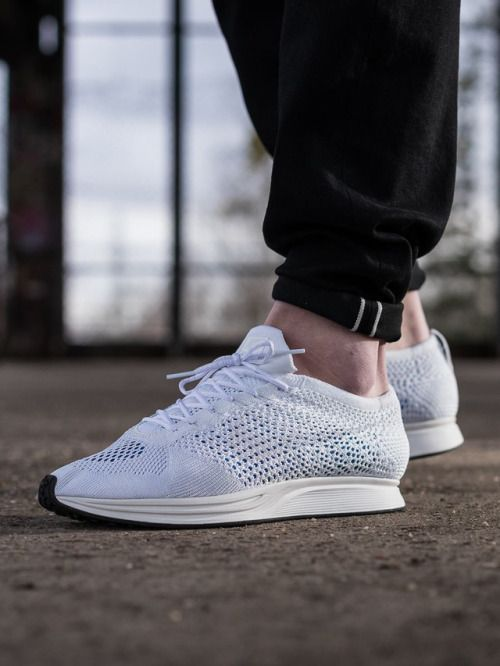 8927b14d00c6 Nike Flyknit Racer White  sneakers  sneakernews  StreetStyle  Kicks  adidas   nike  vans  newbalance  puma  ADIDAS  ASICS  CONVERSE  DIADORA  REEBOK   SAUCONY