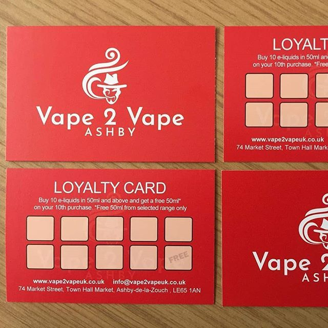 Loyalty Cards For A Client Vape Loyalty Business Red Stamp Printing Loyalty Card Printing Websites Cards